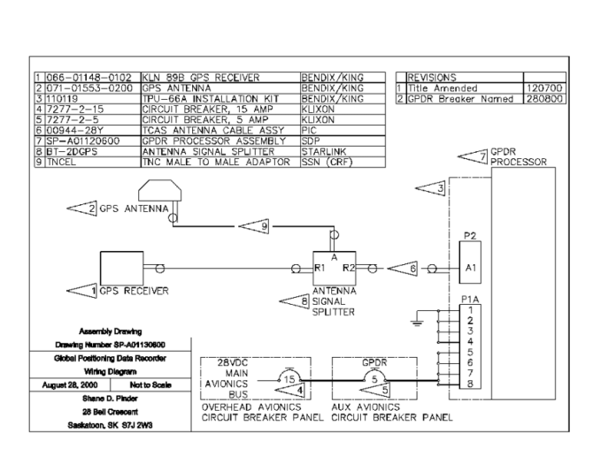 global positioning data recordersystem electrical schematic