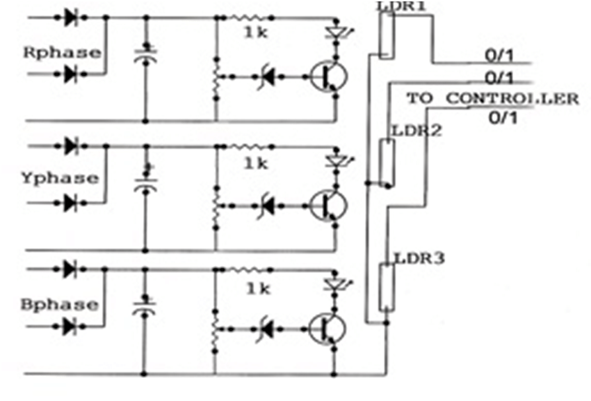 Circuit Diagram for RYB Checker. This module monitor RYB