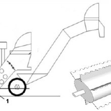 A typical chopper harvester system: (1) topper; (2