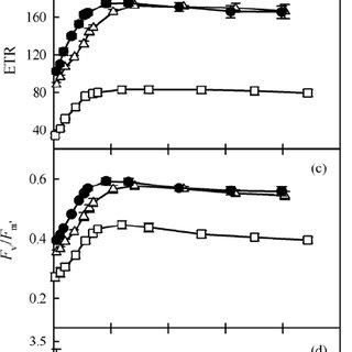 Responses by photosynthetic rate ( A ), quantum yield of