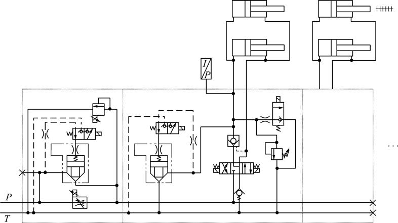 Hydraulic circuit of thrust system of shield machine [8