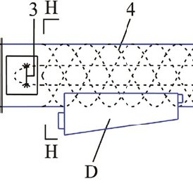 Sketch of ECP fan, 1 inlet bell, 2 fan, 3 spraying nozzle