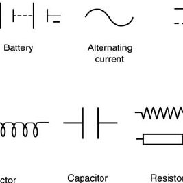 The defibrillator circuit showing the various components