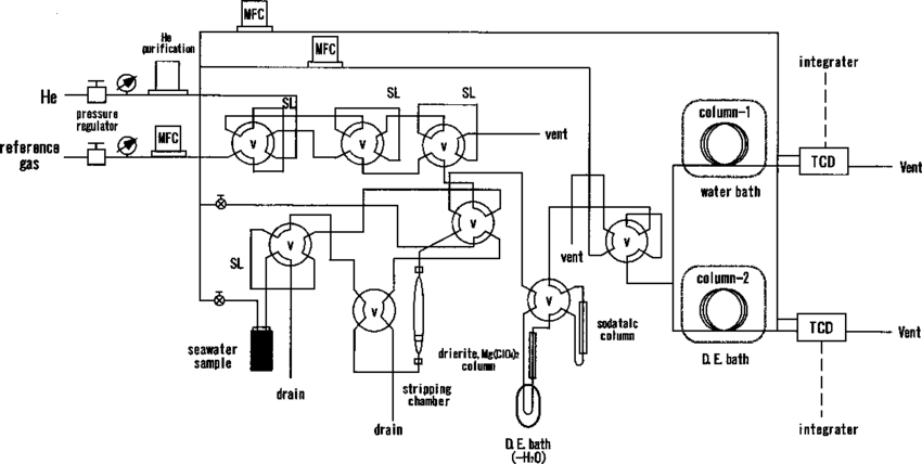 A schematic diagram of the analytical system for dissolved