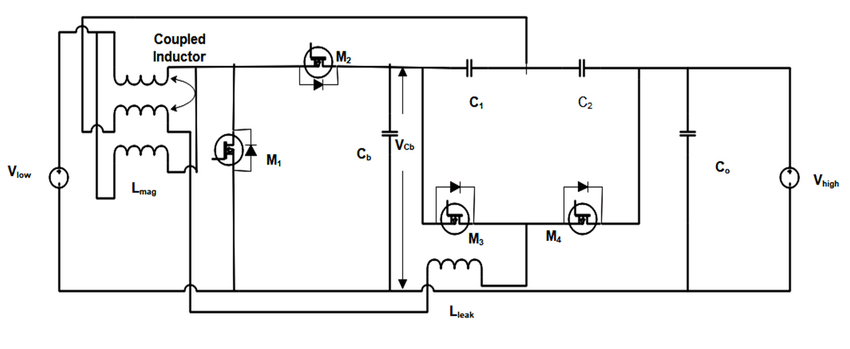 Circuit diagram for bidirectional DC-DC converter