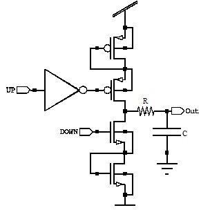 Schematic diagram of Low pass filter using switched