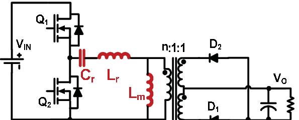 Schematic of half-bridge LLC resonant converter (LLC