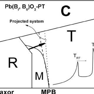 Schematic phase diagram for the PIN-PMN-PT ternary system
