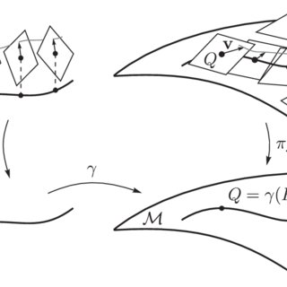 3: Illustration of a pullback tangent bundle γ * T M over