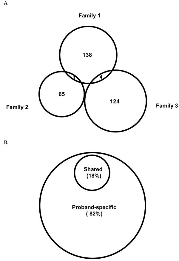 Family-specific, novel, deleterious germline variants