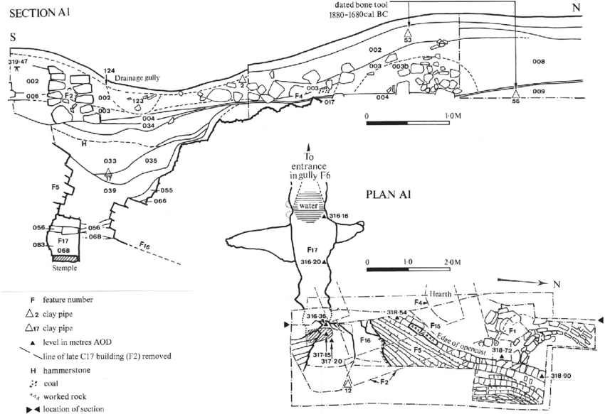 East-facing section of Stone Quarry Mine tip adjacent to