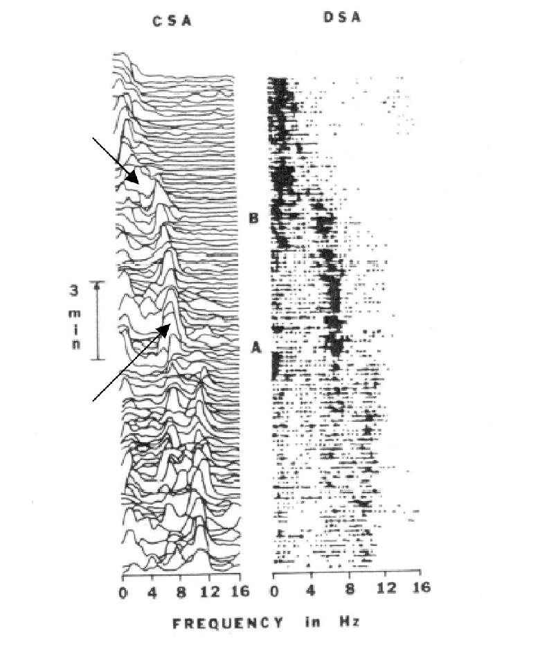 Compressed and density spectral arrays. Compressed