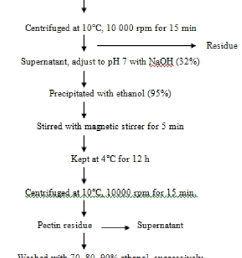 flow chart of pectin extraction using 0 1m hcl [ 713 x 1224 Pixel ]