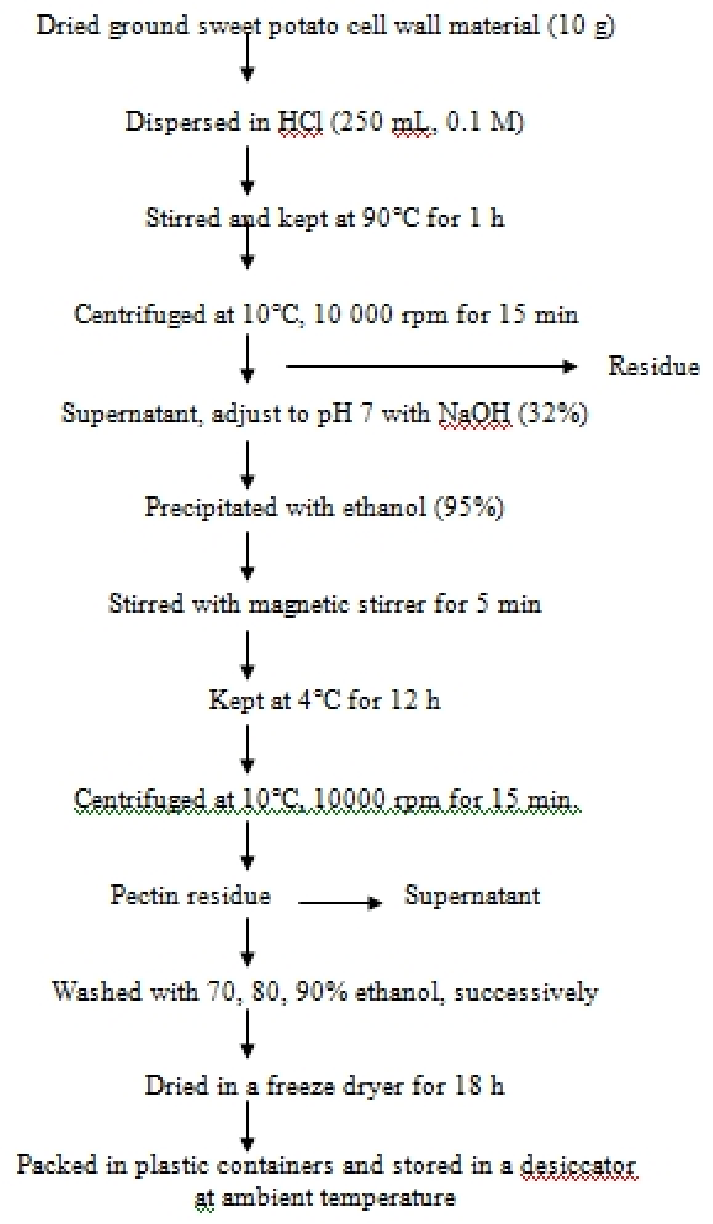 hight resolution of flow chart of pectin extraction using 0 1m hcl
