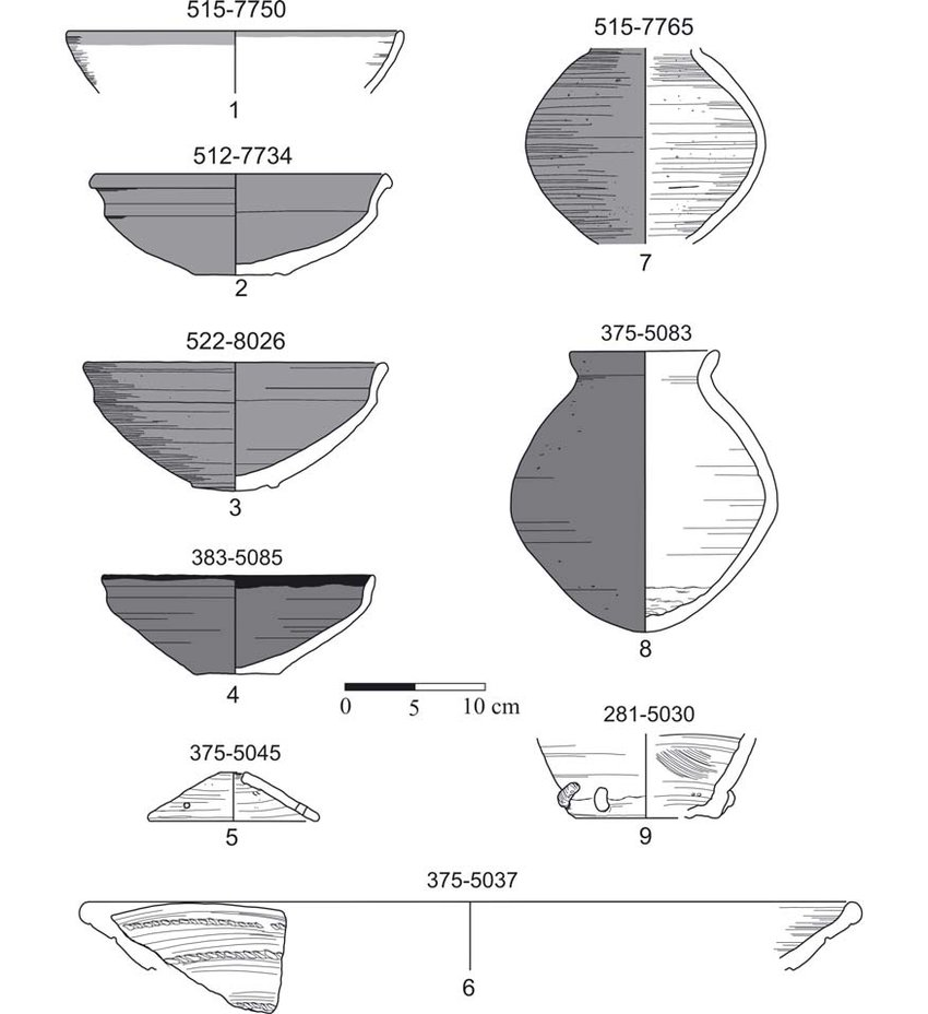 medium resolution of selection of ceramic sherds from the new kingdom early 18 th dynasty download scientific diagram