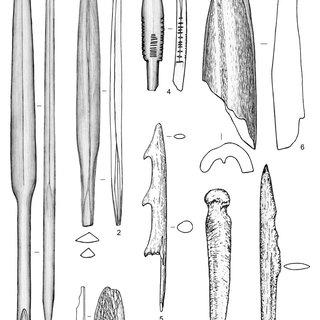 Late Mesolithic. Beregovaya 2, cultural layer III. Bone