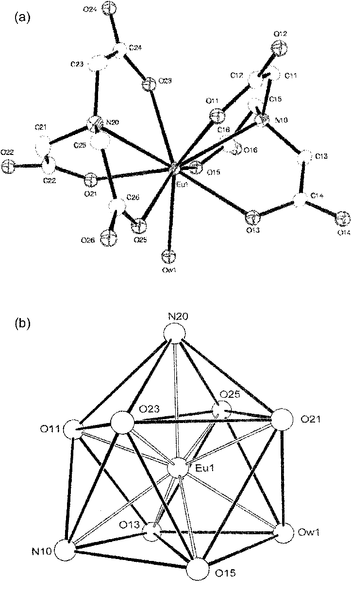 hight resolution of  a ortep drawing and the atom labeling schemes and b ortep