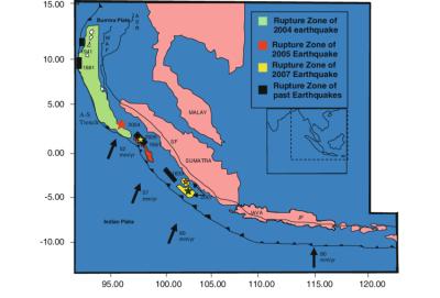 Tectonic setting of the Andaman-Sumatra Island arc. WAF ...