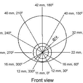 The displacement diagram of the cam of 31-mm stroke