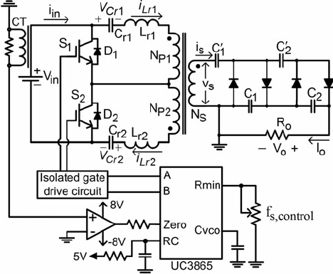 Proposed ZCS series resonant high-voltage DC- DC converter