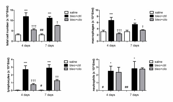 PDE4 inhibition suppresses alveolar inflammation at early