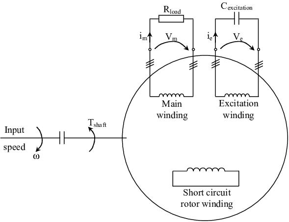 Block diagram of DSWIG drive self excitation case