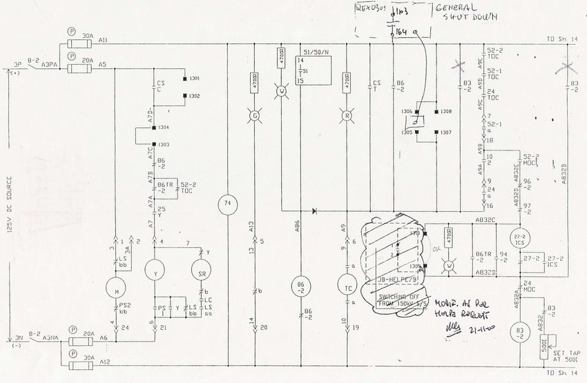 MV switchgear automatic transfer control diagram