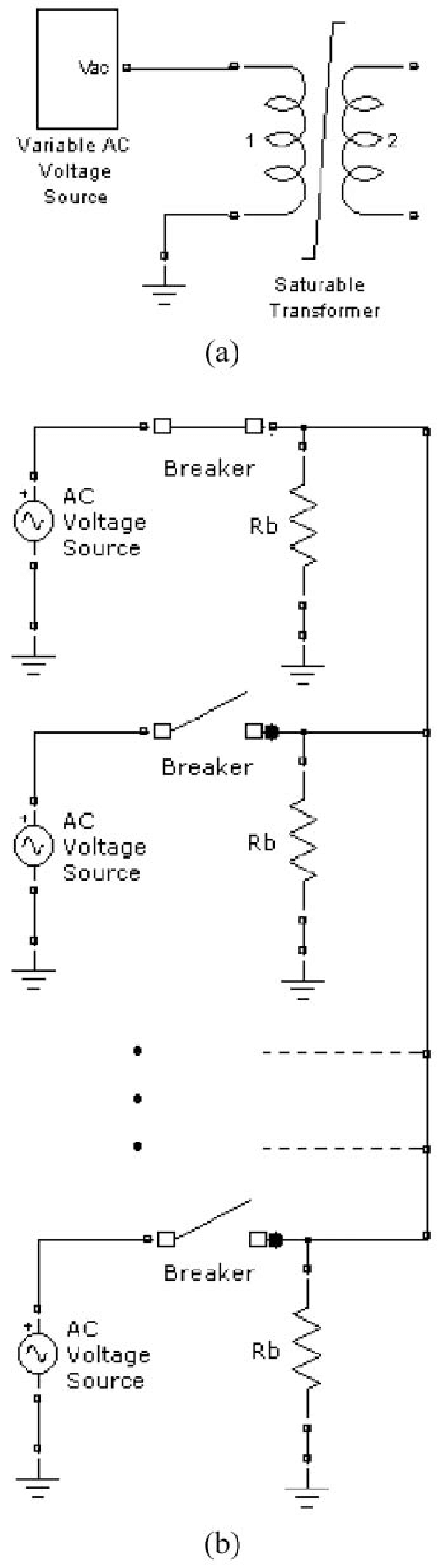 hight resolution of  a new variable ac voltage source providing input to transformer model and