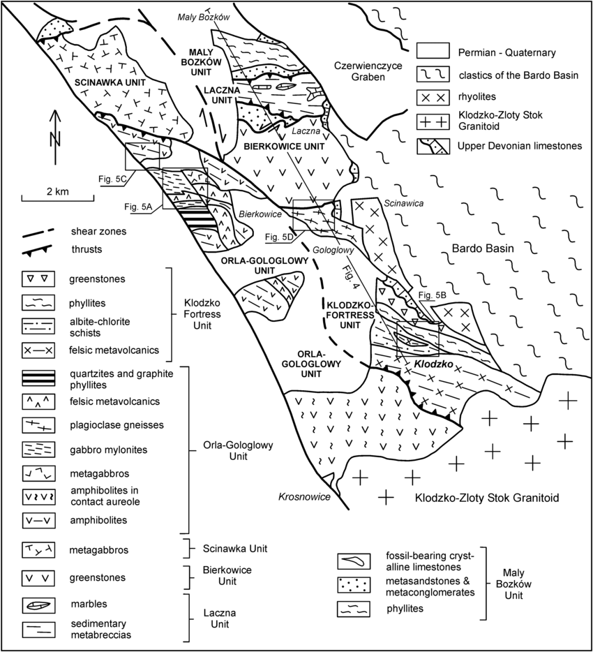 hight resolution of generalised geological map of the k odzko metamorphic complex generalised diagram to give an idea of the german trench structure