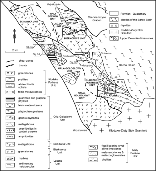 small resolution of generalised geological map of the k odzko metamorphic complex generalised diagram to give an idea of the german trench structure