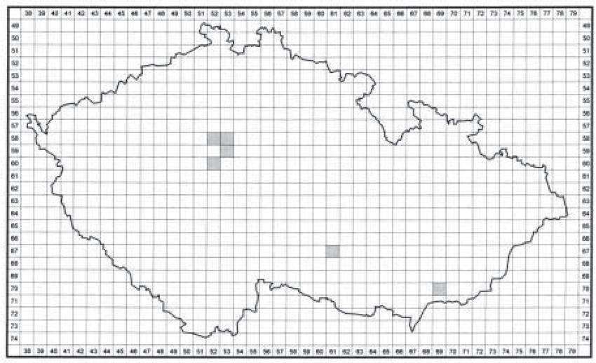 Map of records of Zodarion rubidum Simon, 1914 in the