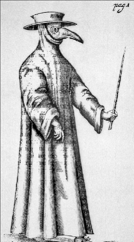 The plague doctor (German woodcut, 1650s). Courtesy of the