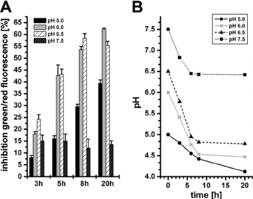 Sensitivity to carolacton of planktonic cells growing