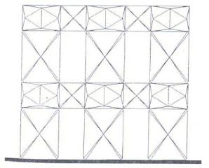 Discretization of a masonry wall with PEFV [12