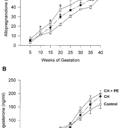 serum allopregnanolone a and progesterone b levels correlate with weeks of gestation [ 850 x 1419 Pixel ]