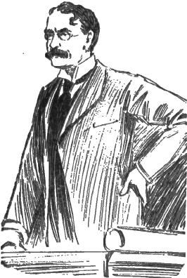 Sketch of Sir J. J. Thomson from a 1907 Edinburgh