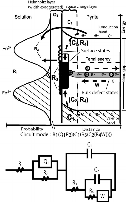 Schematic relating the EC elements to physical components