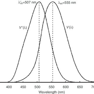 The CIE photopic and scotopic spectral luminous efficiency