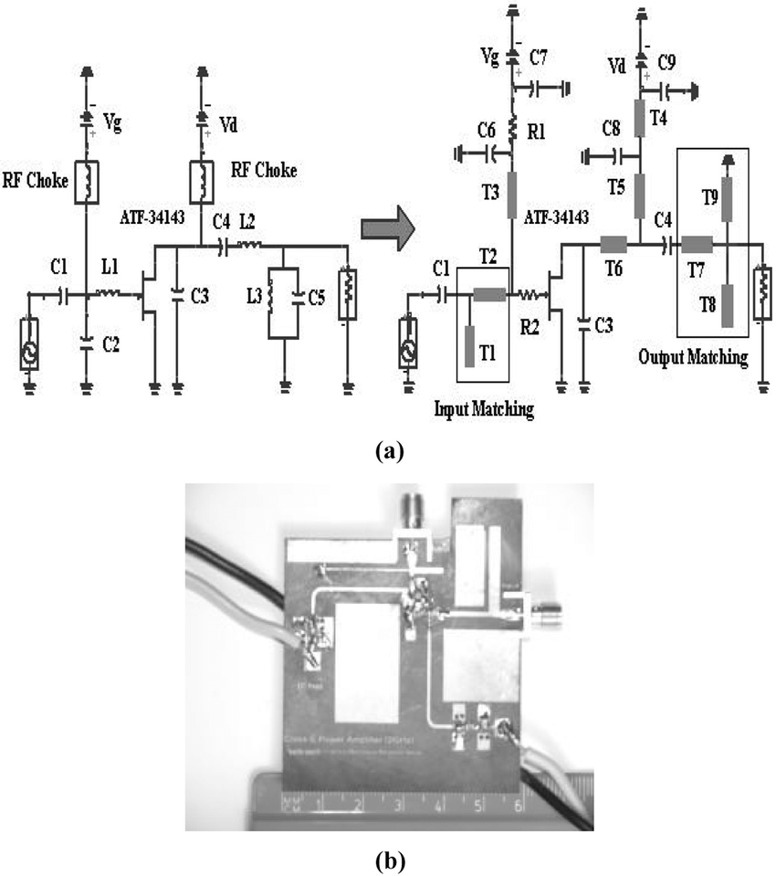 medium resolution of  a proposed circuit diagram of a class e pa b