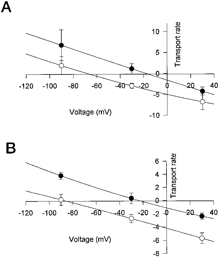 Effect of Na concentration changes on the flux-voltage