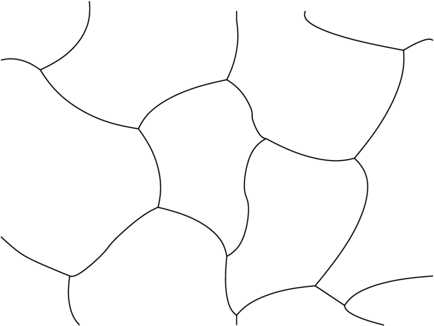 3: A simplicially valent lattice in two dimensions. Each
