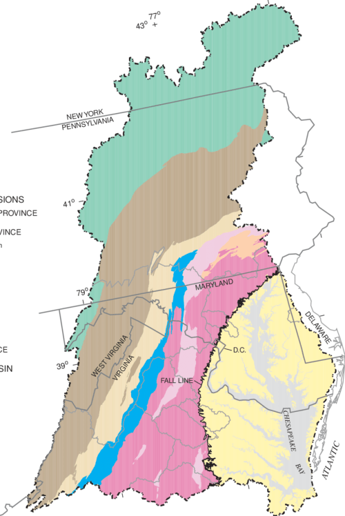 small resolution of physiographic provinces in the chesapeake bay watershed