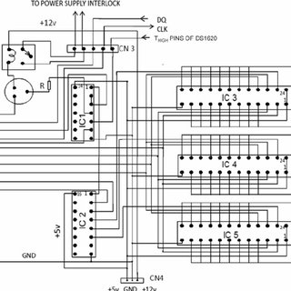 Schematic diagram of the PCB board interfacing parallel
