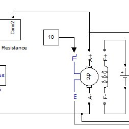 Schematic Representation of Resistor Starter in DC Motor