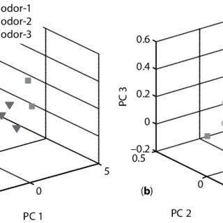 12 MIPs-2-QCM sensor array response to (a) water (5 ?l