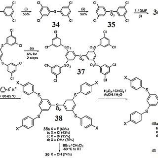 Scheme 6. The divergent construction of sulfone-based