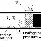 13: Schematic diagram of a reciprocating compressor