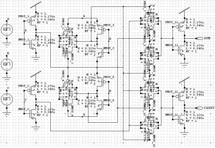 Circuit Diagram of TG Adder Fig.4. Circuit Diagram of TFA