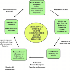 Emotional Cycle Of Abuse Diagram Venn Type 1 And 2 Diabetes Vicious Mental Health Substance Other Compulsive Behaviors For