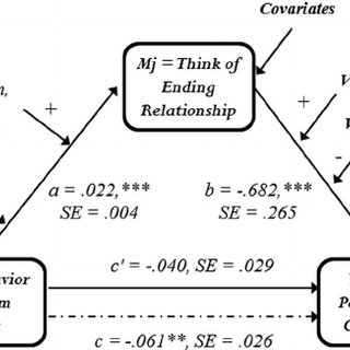 Conceptual model for moderated mediation analyses. The